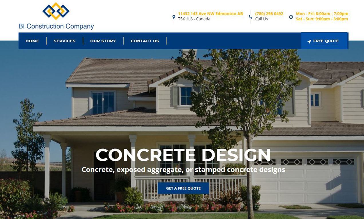 Concrete Company Website